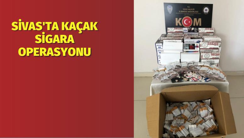 Sivas'ta Kaçak Sigara Operasyonu
