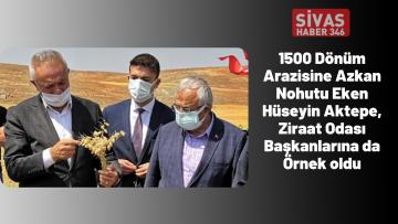 Başkan Aktepe, Çiftçilere Örnek Oldu
